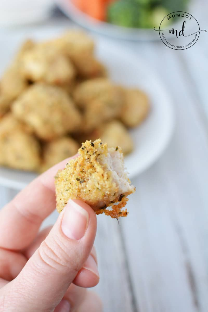 baked nuggets with panko crumbs