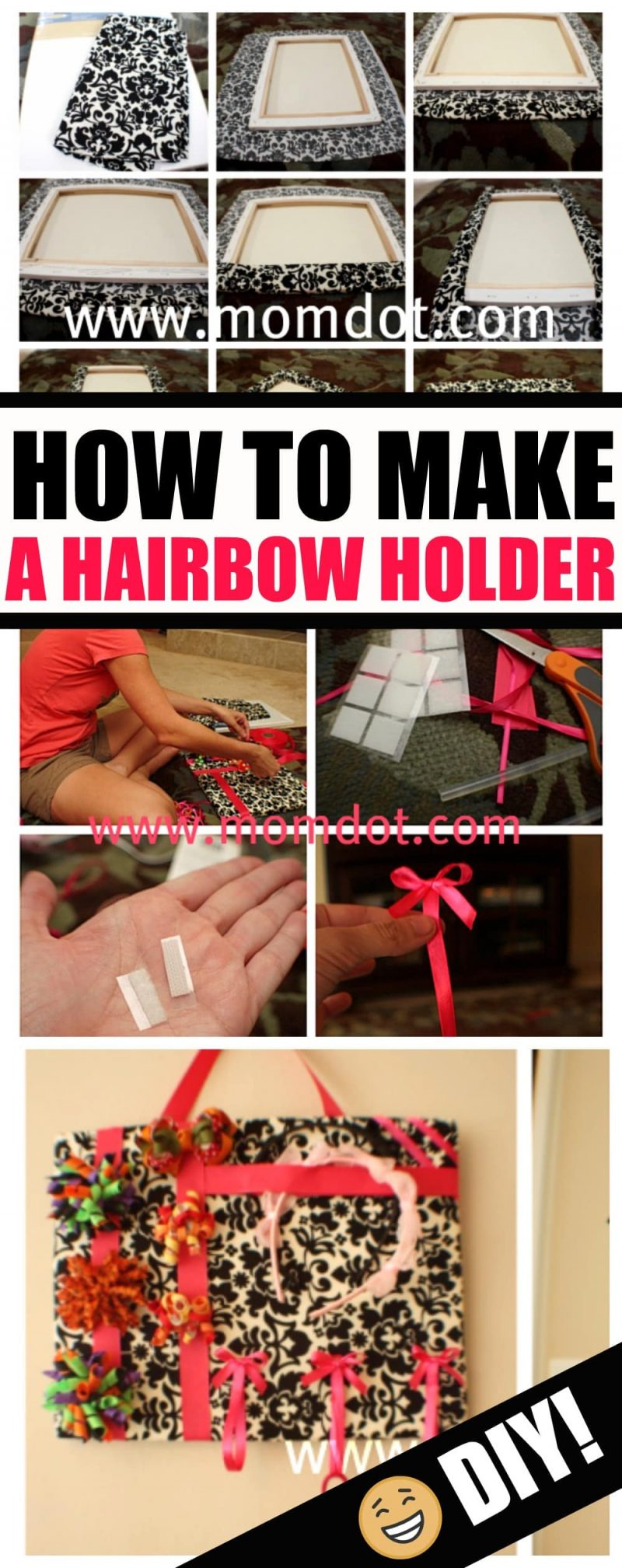 How to make a hairbow holder, hair accessory organizer DIY