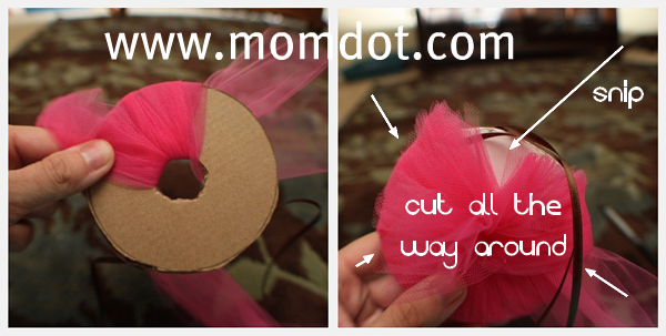 How To Make A Tulle Pom Pom Ball Momdot