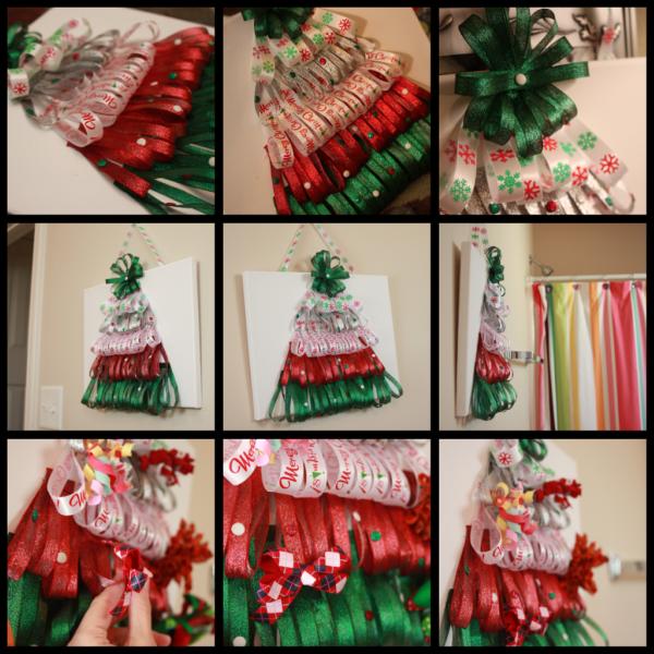 How To Make A Christmas Hair Bow Holder MomDot - Christmas Tree Hair Bows