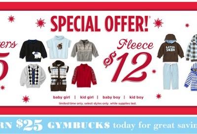 Gymboree Semi-Annual Sale