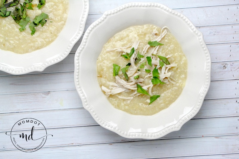 Avgolemono Soup is a creamy chicken and rice soup with a slight taste of lemon and basil, making it a perfect soup for the fall or any time you need a full belly.