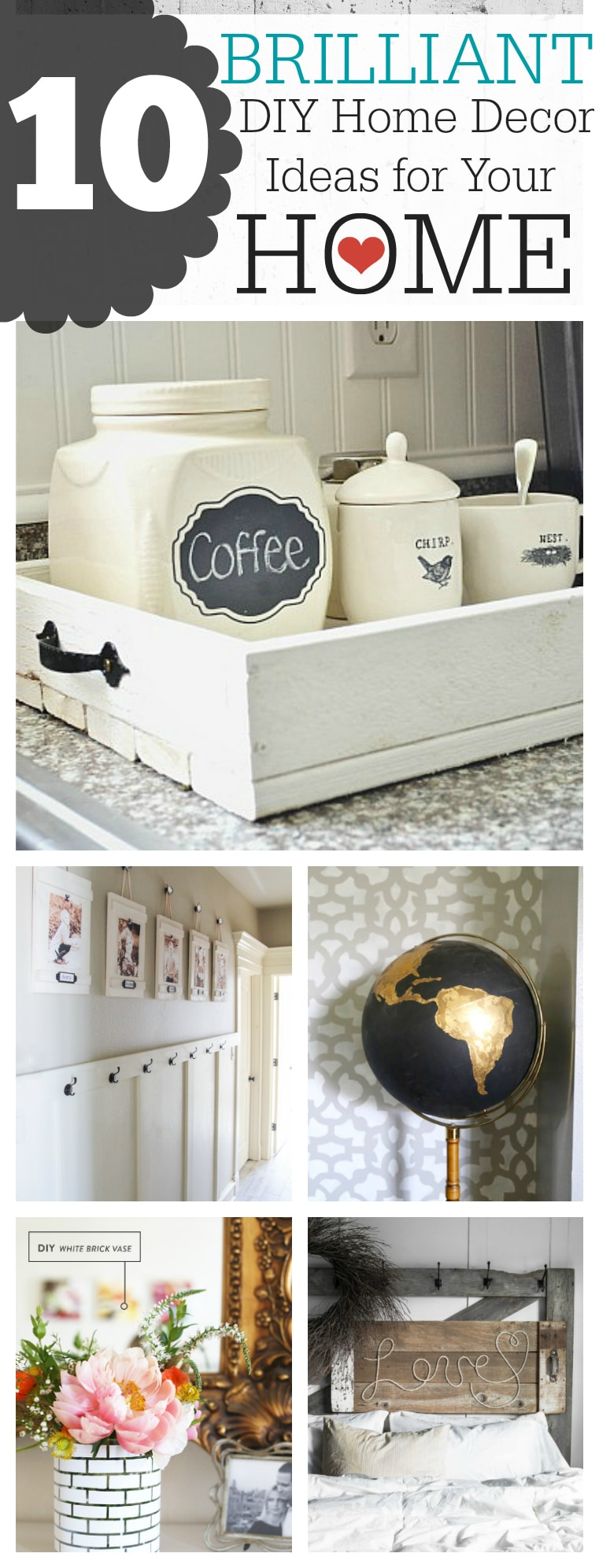10 Brilliant DIY Home Decor Ideas To Makeover Your Home!