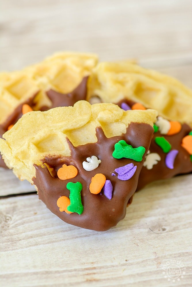 Make Dipped Waffle Bites for a fun snack