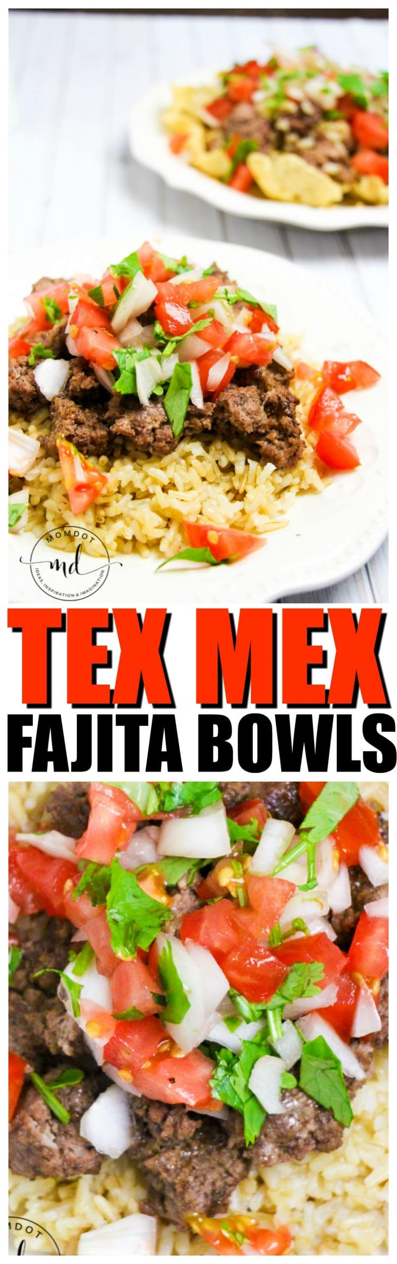 Tex Mex Fajita Recipe Bowl   Tex-Mex Rice Bowl   Stacked Rice Bowls