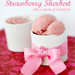 Strawberry Chambord Sherbert