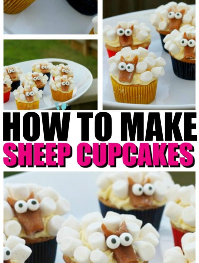 How to make Sheep Cupcakes | EASY Sheep Cupcake Tutorial with Video