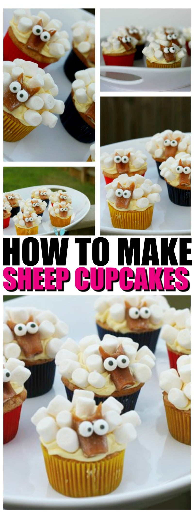 How to make Sheep Cupcakes | EASY Sheep Cupcake Tutorial with Video