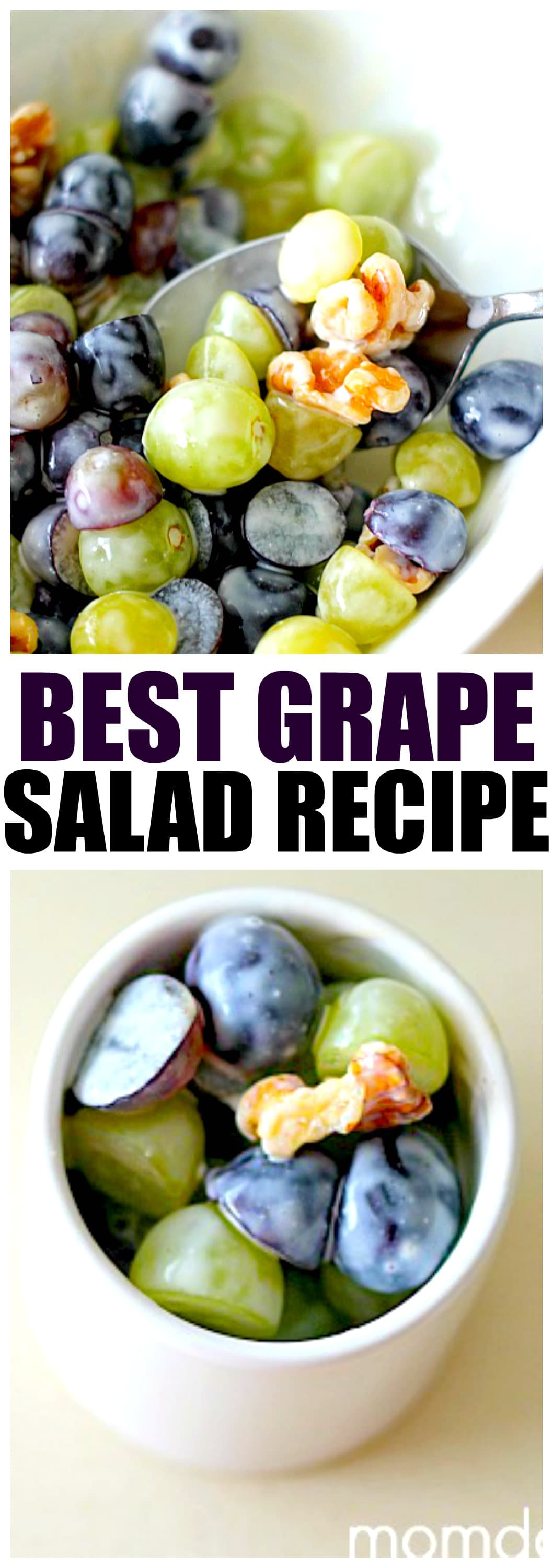 Best Grape Salad Recipe with Crunchy Walnuts, perfect for summer picnics