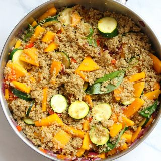 Easy Quinoa and Veggie Gratin, a healthy side dish recipe for dinner