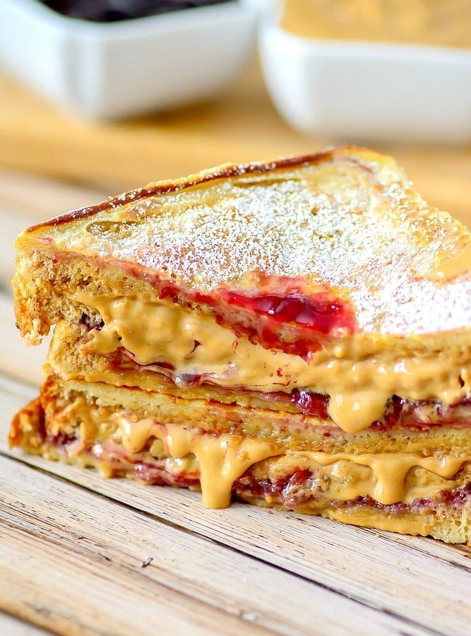 Fried PB&J Sandwich
