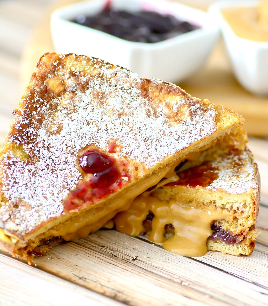 Fried Peanut Butter and Jelly Sandwhich, a new twist on this favorite classic (psst, try syrup on it like french toast!)