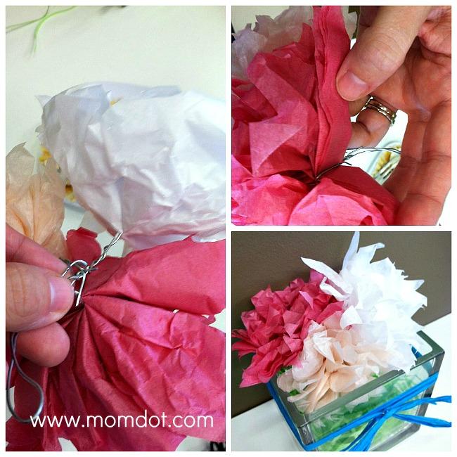 Diy easy tissue paper flower tutorial mightylinksfo