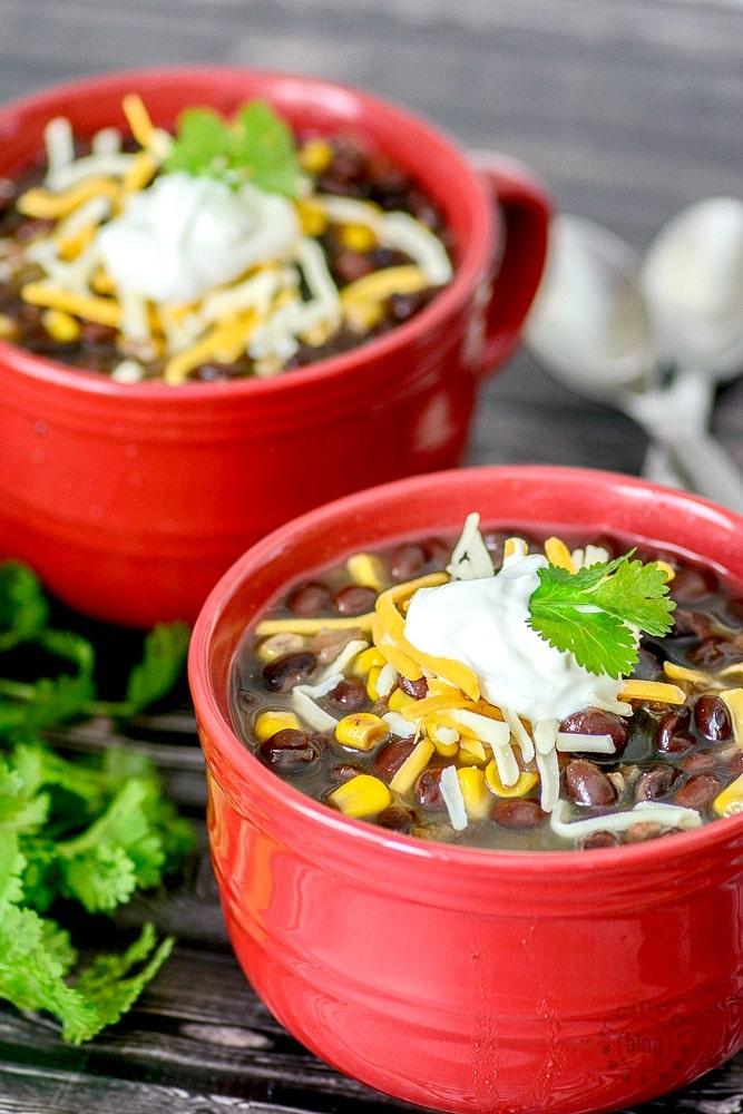 salsa chicken and black bean soup