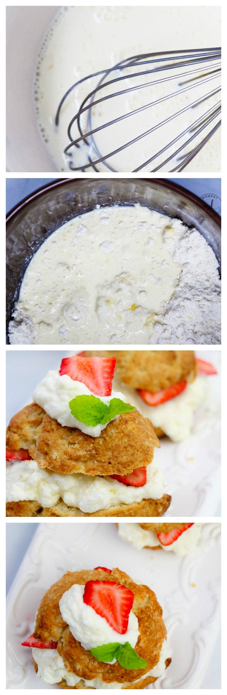 Simple Strawberry Shortcake Recipe   Organic Strawberry Short Cake   Dense Cake   Homemade whipped cream and strawberry sauce