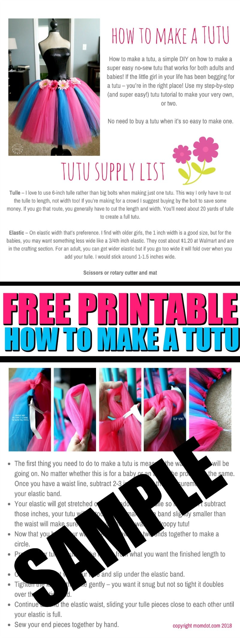 instructions on how to make a tutu
