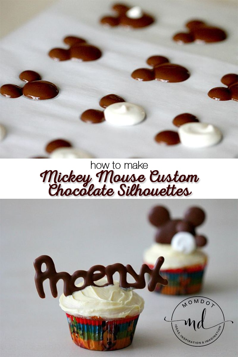 How to easily Make Mickey Mouse Custom Chocolate Silhouettes