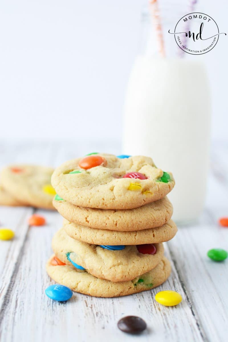 easy M&M cookies