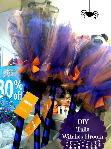 DIY Custom Gymboree Copycat Witches Tulle Broom