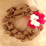 How to make a Canvas Door Wreath