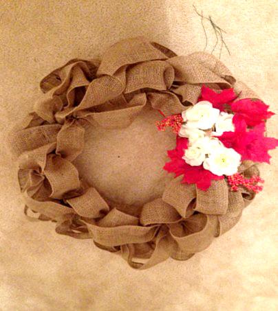 How to make a Canvas Door Wreath