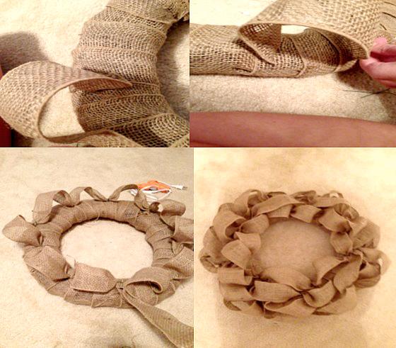 How to make a fall canvas door wreath , Crafting DIY | Momdot.com