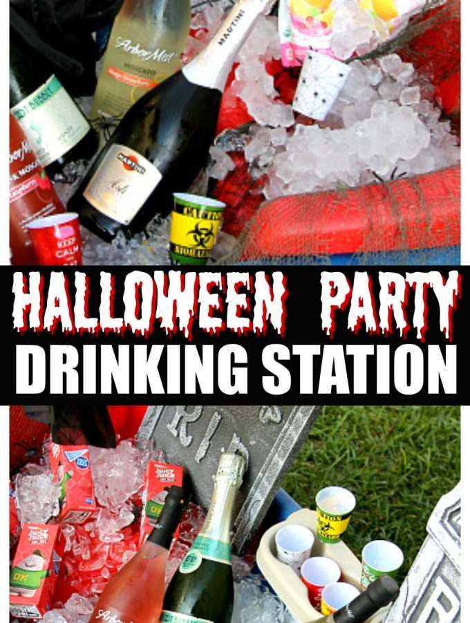 Halloween Party Drinking Station with a Wagon
