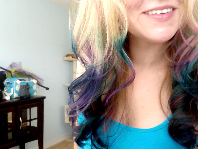 dip dyeing hair momdot.com