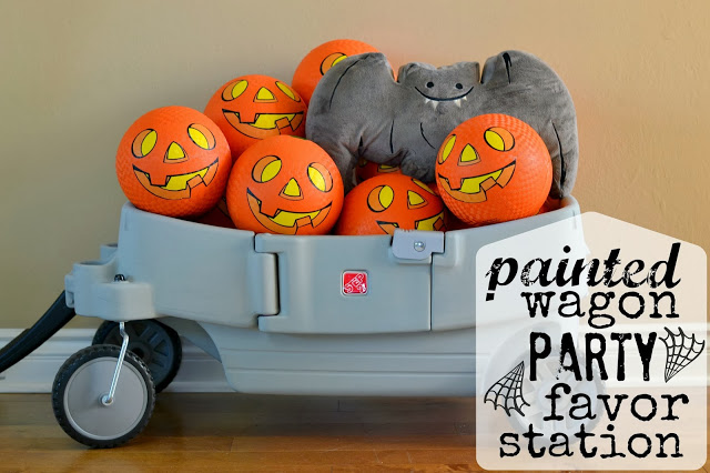 painted wagon party favor station
