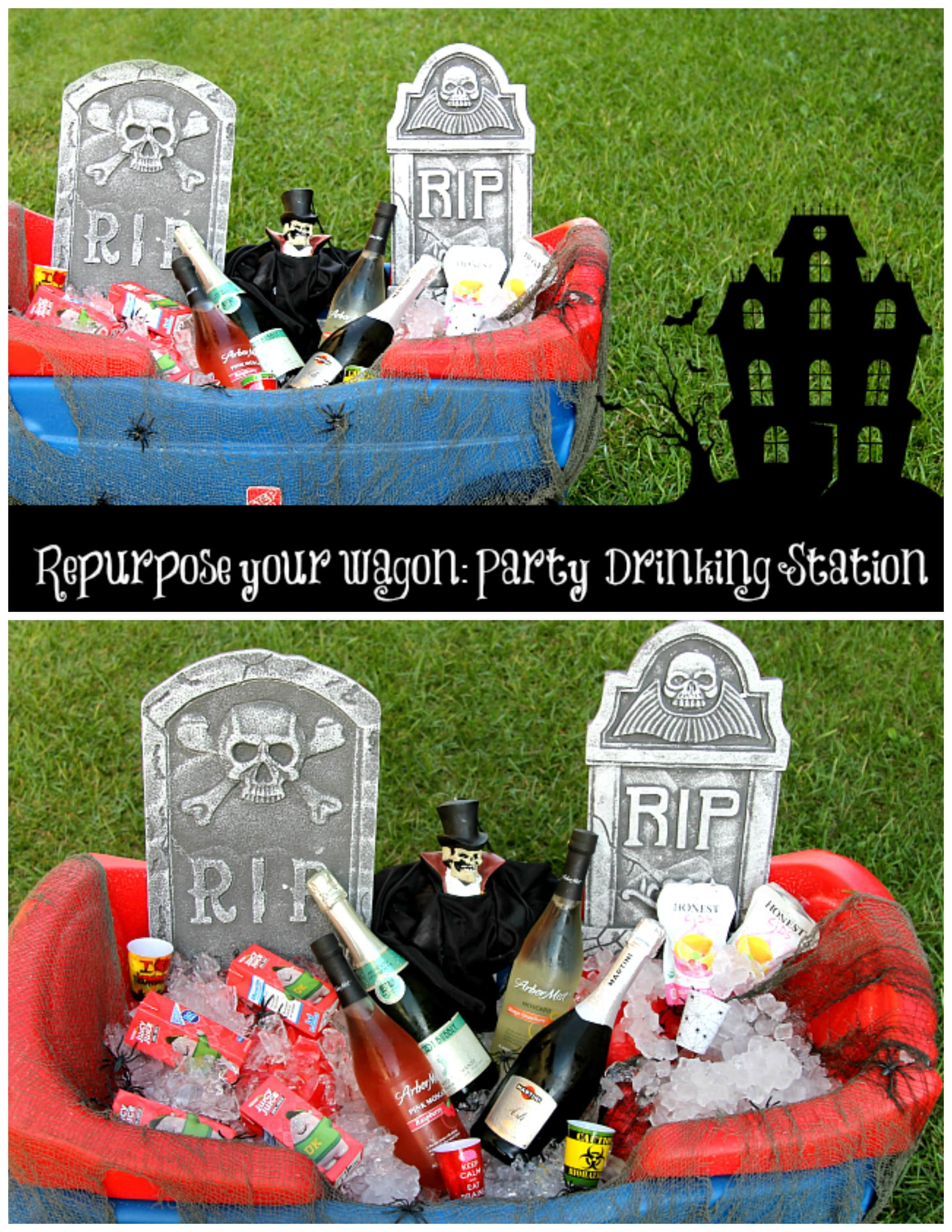 Halloween Party Drinking Station | Halloween Hack | Re-purpose Wagon this Fall
