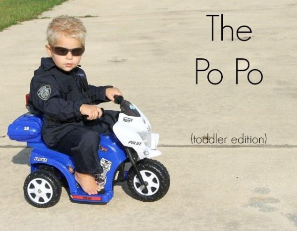 toddler police halloween costume