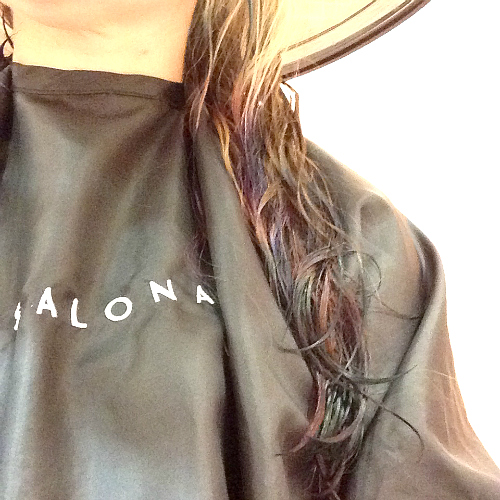 wet hair dip dyeing