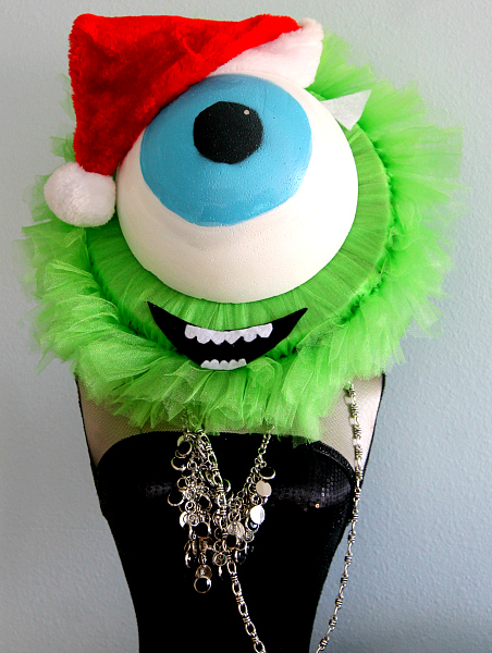 Mike Wazowski Holiday Wreath Tutorial DIY Monsters U Fans!
