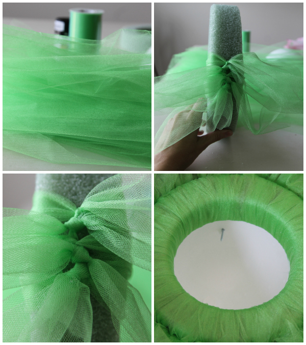 Mike Wazowski Tulle Wreath