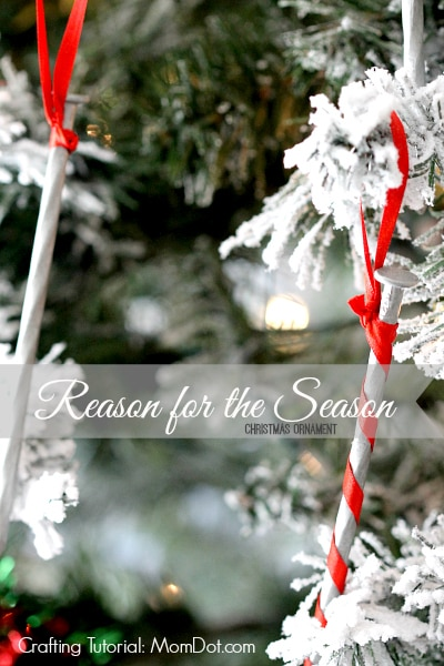 Reason for the Season Christmas Crafting Tutorial, under $5 , under 5 minutes