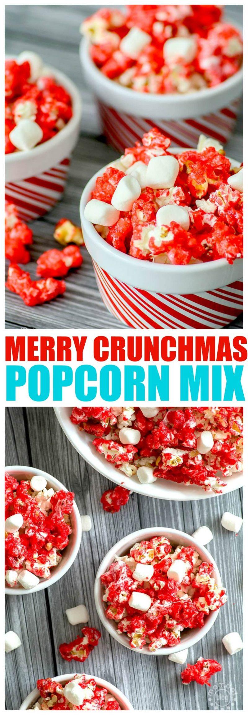 Merry Crunchmas PopCorn Recipe, 2 delicious ways to enjoy holiday popcorn with printable recipe, 10 minute