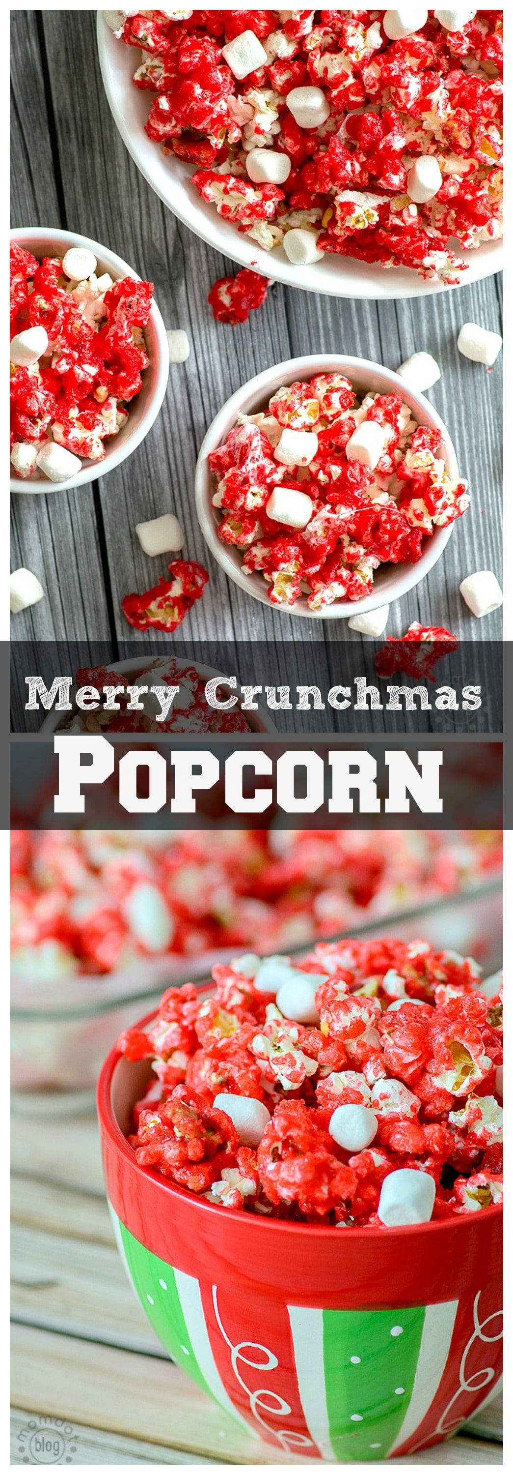 Merry Crunchmas Christmas Popcorn mix, fun recipe and perfect for a Christmas Eve Movie Treat- Get the recipe here