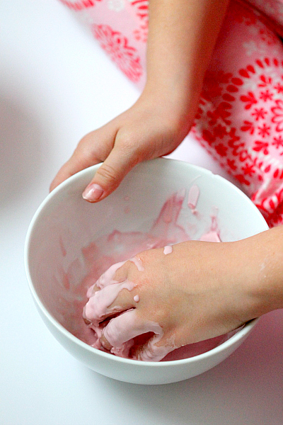 DIY Kitchen Quicksand Kids activity, easy household ingredients