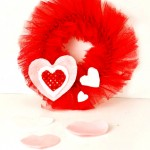 Valentine's Mini Tulle Wreath DIY