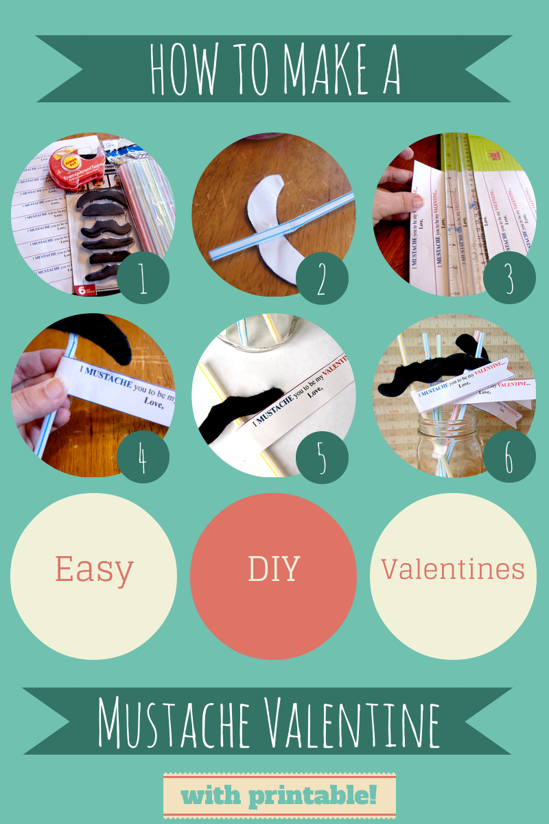 Valentines Day Mustache DIY Craft perfect for classrooms, teachers, and parties!