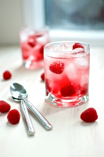 Cran-Raspberry Spritzer, perfect for Valentines Day Recipes or Parties