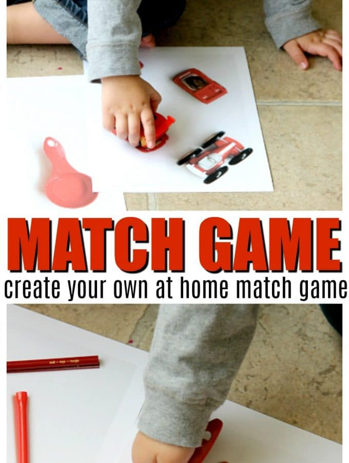 Create your own match game for toddlers,Montessori Sensory Bucket play with Matching common household items, group in shapes, colors and more. Easy play for kids 2-3 years of age.