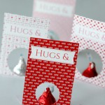 "Free Valentines Day ""Hugs & Kisses"" Card Printable"