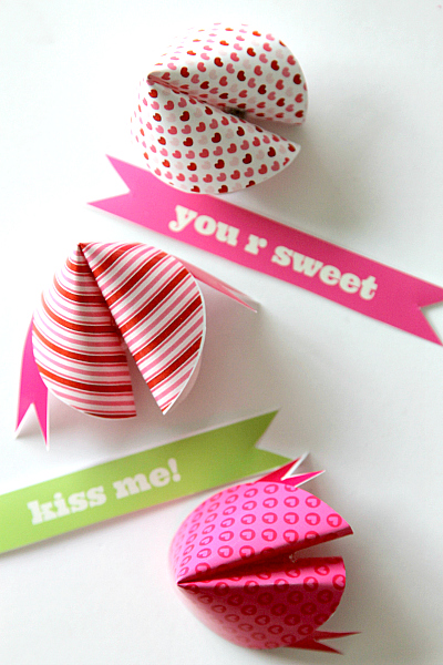Valentine's Printable Fortune Cookies