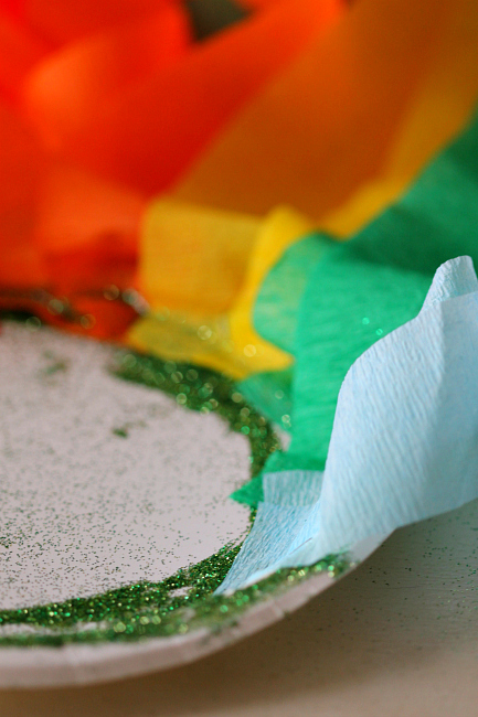 Rainbow Kids Craft perfect for St. Patricks day and fun toddler idea!
