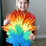 St Patricks Day Kids Activity: Handprint Rainbows more at www.momdot.com