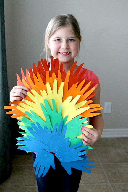 St. Patrick's Day Handprint Rainbows