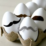 Monsieur Egg: 30 second no mess egg decor
