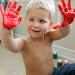 Toddler Hand Print Rainbows (Great Keepsake!)