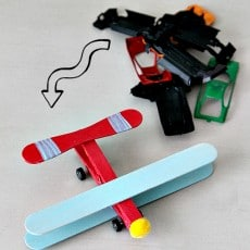 Repurpose old Matchbox cars not Moving Airplane (using clothespins and Popsicle sticks!) , more at www.momdot.com